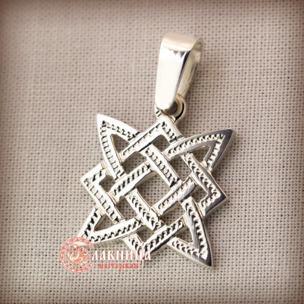 1f8852e996a8 Купить оберег Звезда Руси, славянский символ из серебра и золота ...